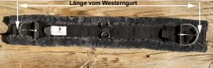 Sattelgurt - Westerngurt: so messen Sie die Länge
