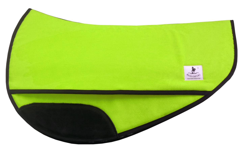 Western Sattelpad roundskirt correction anatomisch neon-grün lime