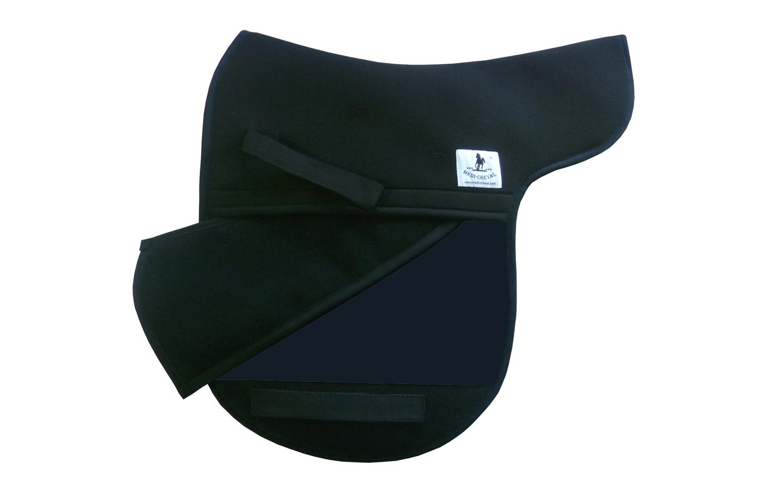 Dressur Sattelunterlage Sattelform polsterbar dunkelblau