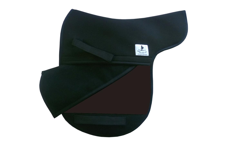 Dressur Sattelunterlage Sattelform polsterbar dunkelbraun