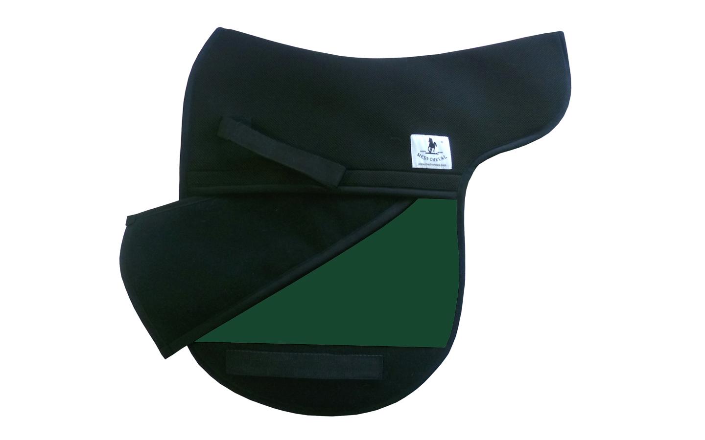 Dressur Sattelunterlage Sattelform polsterbar grün
