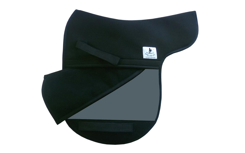 Dressur Sattelunterlage Sattelform polsterbar hellgrau
