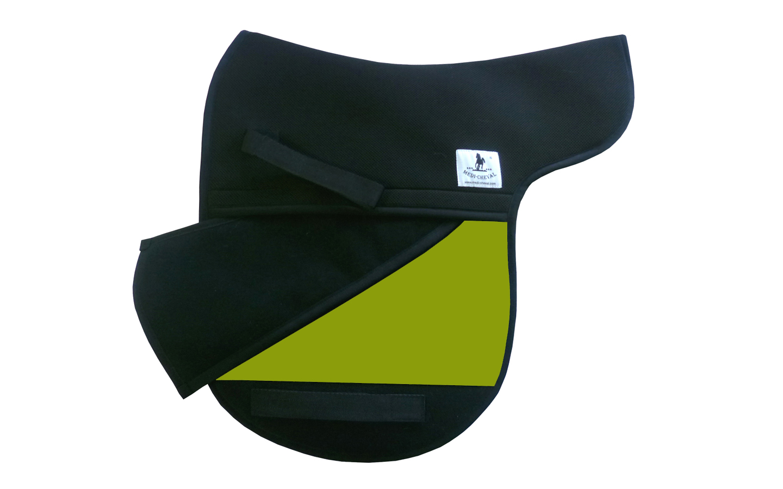 Dressur Sattelunterlage Sattelform polsterbar neon grün lime