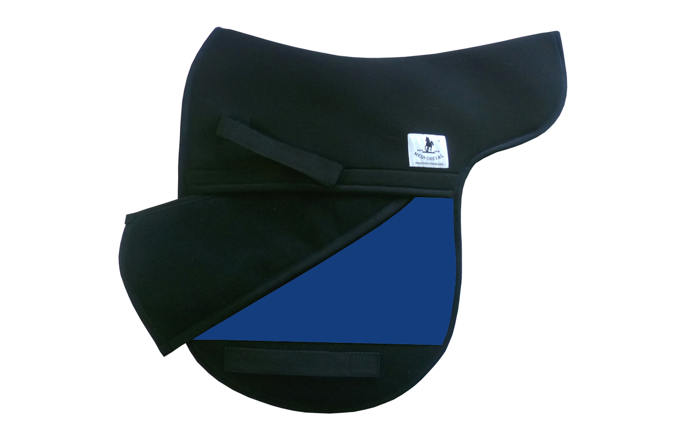 Satteldecke Dressur Korrektur Sattelform polsterbar royalblau