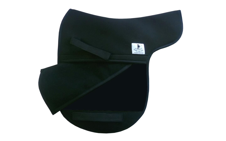 Dressur Sattelunterlage Sattelform polsterbar schwarz