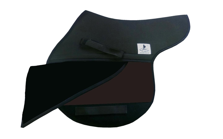 Springen Sattelunterlage Sattelform polsterbar dunkelbraun