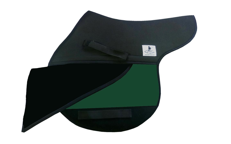 Springen Sattelunterlage Sattelform polsterbar grün