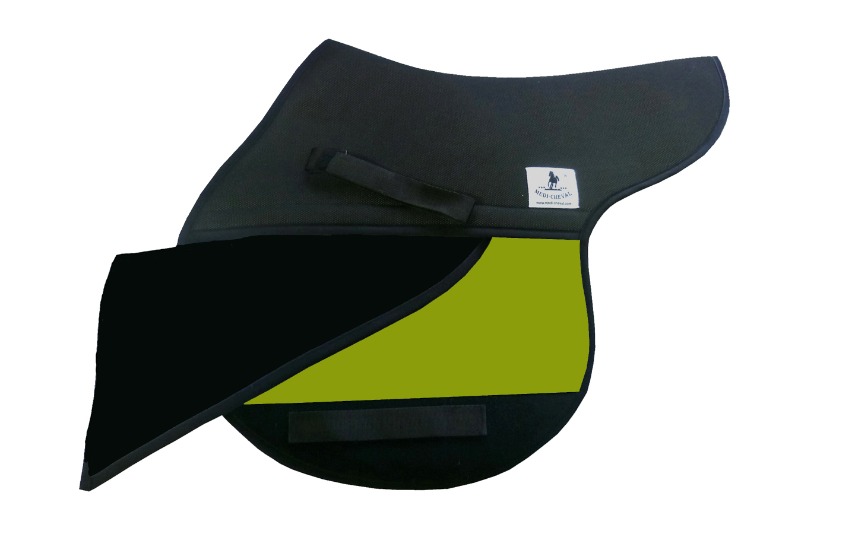Sattelunterlagen Springen polsterbar Sattelform neon grün lime