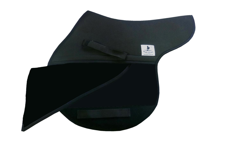 Springen Sattelunterlage Sattelform polsterbar schwarz