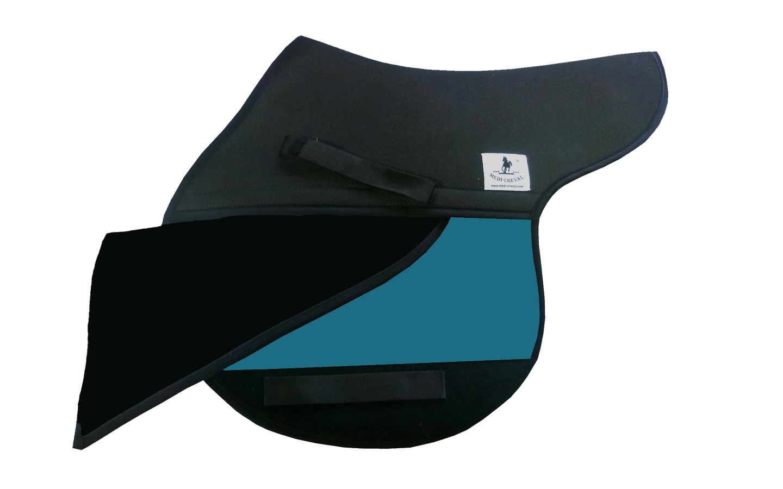Springen Sattelunterlage Sattelform polsterbar türkis