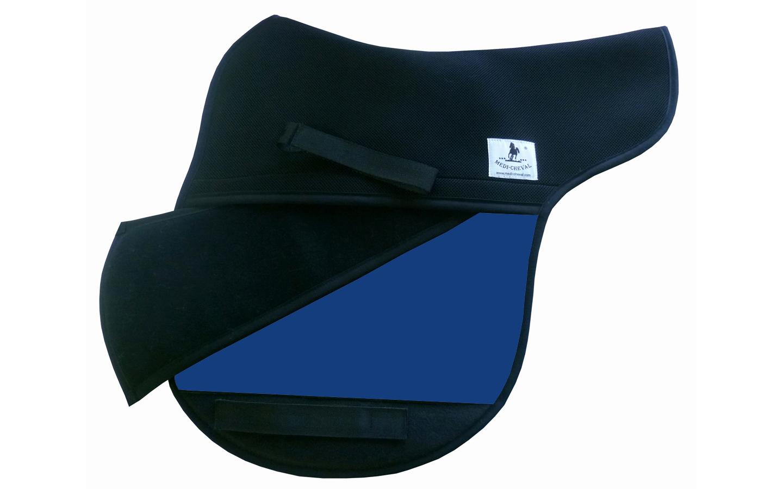 Vielseitigkeit Sattelunterlage Sattelform polsterbar royalblau