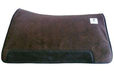 Westernsattelpad - cutting retro dark brown