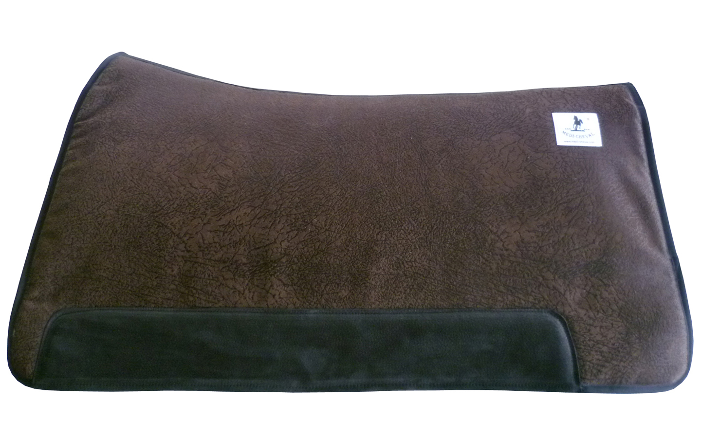 Westernsattelpad - cutting retro dark brown