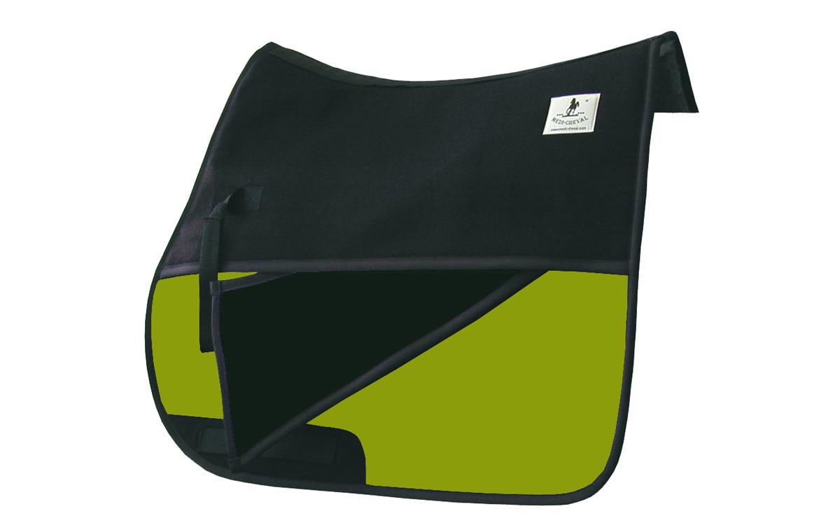 Schabracke Reitpad Vielseitigkeit Einschübe neon grün lime