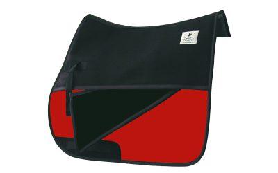 Schabracken Vielseitigkeit Reitpad mit Einschübe rot