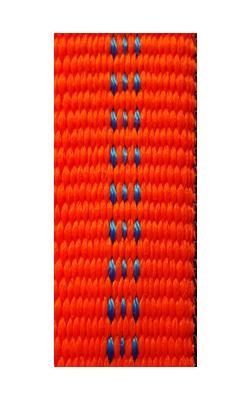 epolsterte Bänder bi-color leucht-orange