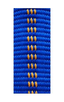 gepolsterte Bänder bi-color royalblau