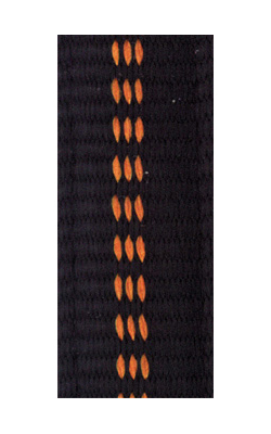 gepolsterte Bänder bi-color schwarz