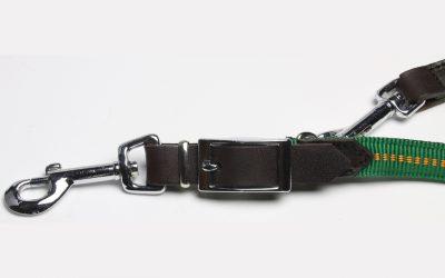 gepolsterte Hundeleine Koch Ledereinsatz Detail