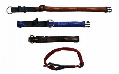 Hundehalsband Leder Einsatz ge