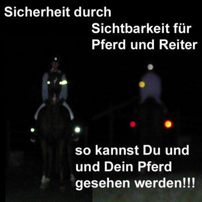 Reflexartikel, Beleuchtung, Reit Stiefelbeleuchtung Micro LED - Sicherheit für Pferd und Reiter