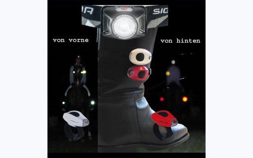 Beleuchtung für Reit Stiefel LED Sichtbarkeit Pferd a