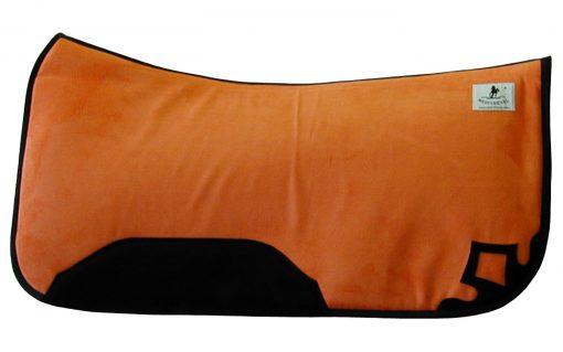 Westernpad orange anatomisch aufgedoppelt