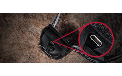 Kopflampe mit USB Anschluß